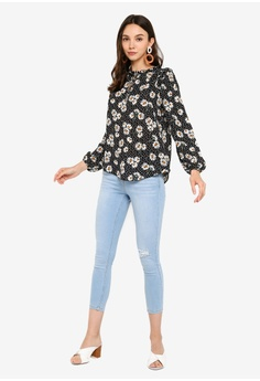 fc77743a4b7 Dorothy Perkins Daisy Ruffle Tie Neck Top RM 179.00. Available in several  sizes