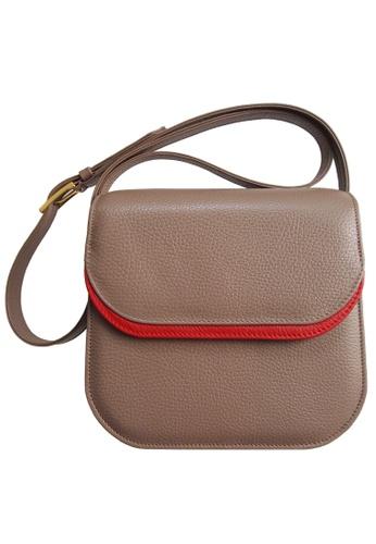 72 SMALLDIVE brown 72 Smalldive Womens Shoulder Leather Handbag In 2 Color Tone Taupe & Red 32482ACD505DA6GS_1
