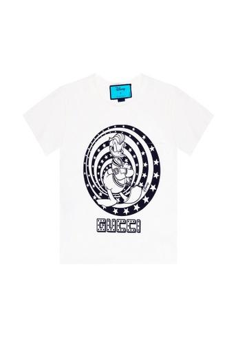 Gucci white Gucci Disney X Donald Duck T-Shirt in Ivory E8F49AA4F22C63GS_1