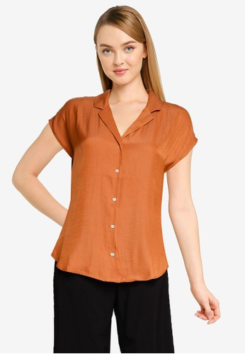 Banana Republic brown Resort Collar Shirt 9F693AA94F3009GS_1