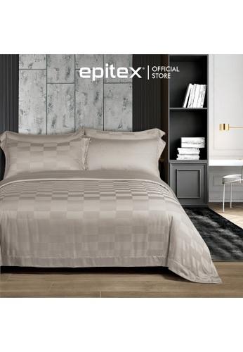 Epitex beige Cressent Dale 1500TC LA3302-6 Beige Valenfil Collection Filagen Collagen Fibre Jacquard Fitted Sheet (w/o quilt cover) 678F5HLCFF8445GS_1