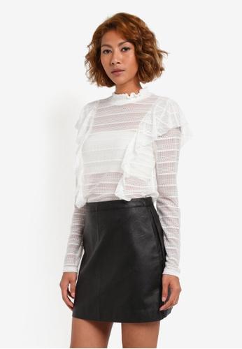 Vero Moda white Lola Lace Frill Top VE975AA0S43MMY_1