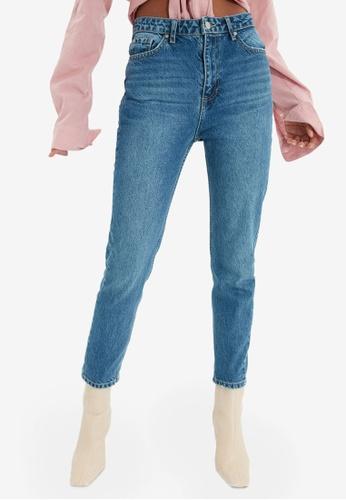 Trendyol blue High Waist Mom Jeans 18426AA1E94FBCGS_1