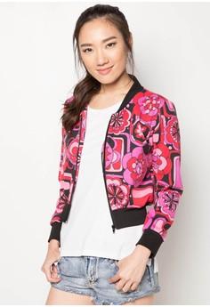 Flavie Zippered Crop Jacket