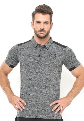 Flexzone black FLEXZONE Sport Polo Shirt Ceo Series Black 84D02AAF6853A4GS_1