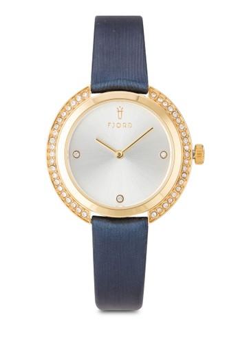 AGNIS水鑽皮革圓錶,esprit 寢具 錶類, 飾品配件