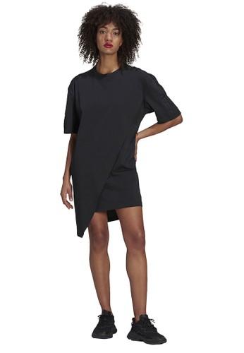 ADIDAS black tee dress 4FD25AA89C87DBGS_1