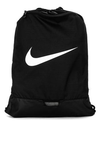 Nike black and grey Brasilia Gym Sack 9639FAC26A4B49GS_1