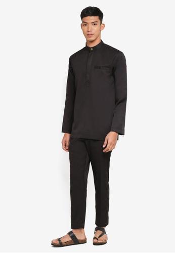 Klozet Kuala Lumpur black Baju Melayu Regular Ghazal D1BEEAA71E6731GS_1