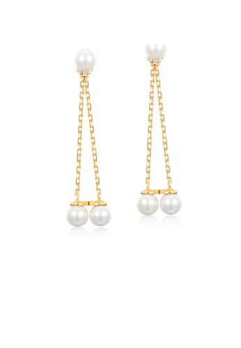 SUNSET gold Premium 925 Sliver Pearl Earring 049DEAC6B83397GS_1
