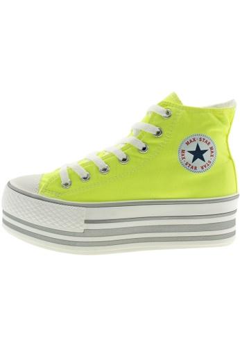 Maxstar 綠色 新款韩国鞋C50-7H-Flu時尚帆布布混合女綠色 US Women Size MA345SH21GWGTW_1
