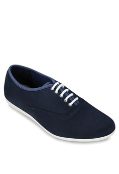 Nylon Lace Up Sneakers