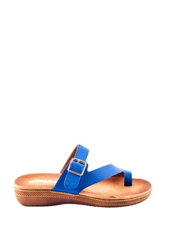 Otto blue Buckled Sandals 4E351SH6EB0043GS_1