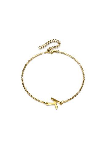 Bullion Gold gold BULLION GOLD Bold Alphabet Letter Initial Charm Bracelet in Gold Tone - K CE6D2ACEE5969EGS_1