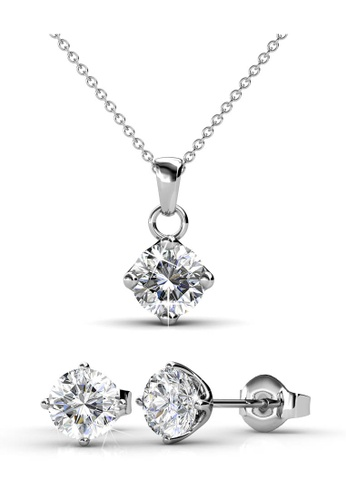 Her Jewellery silver Classical Set with Premium Grade Crystals from Austria 98A65AC8617CD5GS_1