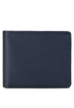 Saffiano Inner Metal Zip Wallet