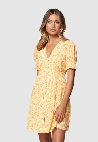 Forever New multi Saffron Printed Mini Sun Dress 55943AAABEE0EEGS_1