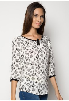 Freego Ladies Slim Fit Printed Shirt