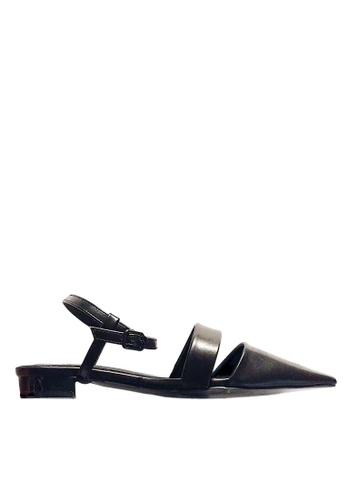 Twenty Eight Shoes 黑色 尖頭踝帶小跟鞋 VS3318 TW446SH23NDOHK_1