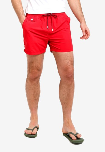 Brave Soul red Taslan Swim Shorts 299FEAA5A3436AGS_1