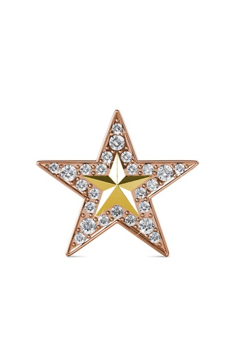 Her Jewellery gold Starfish Brooch - Made with premium grade crystals from Austria B950BAC70222F4GS_1