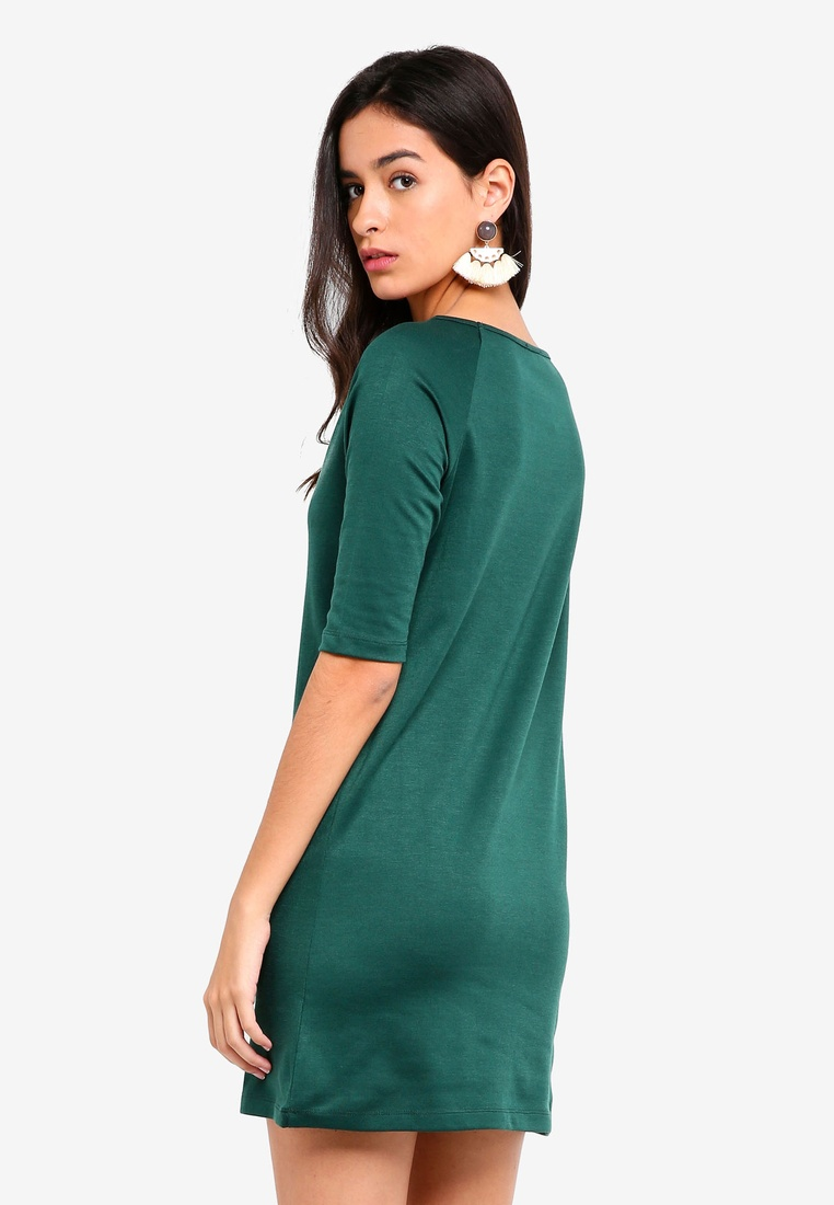 Raglan Jade Dress Shift pack Basic 2 Sleeves BASICS ZALORA Black pqzEgwx