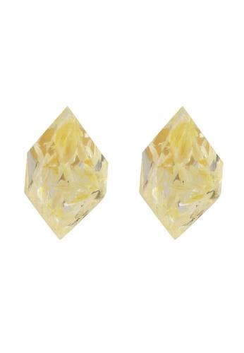 niko and ... yellow Hexagon Earrings AC8F0AC69F54A1GS_1