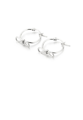 Glamorousky silver Fashion Simple Ribbon Geometric Circle 316L Stainless Steel Earrings A0390ACEC3677AGS_1