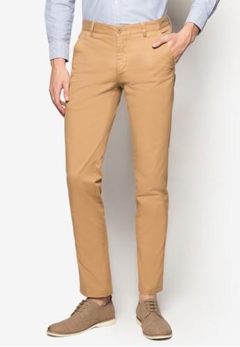 棉質奇諾長褲, esprit官網服飾, 直筒褲