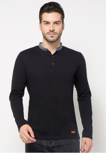 Mandarin Collar Long Sleeves Polo