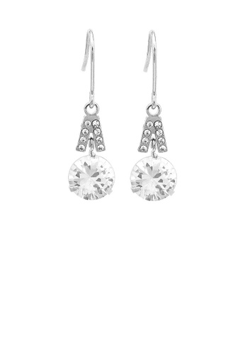 Glamorousky silver Elegant Round Earrings with Silver Austrian Element Crystal 945F9AC1D568A0GS_1