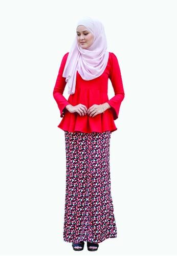 Delina Peplum from Kamelia in Red