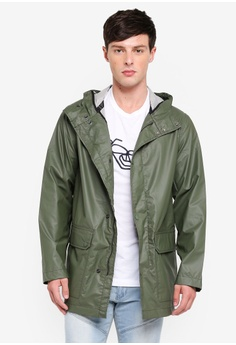 9b0050c9dfb French Connection green Rubber Coating Hooded Jacket BABA1AAB528E9FGS_1