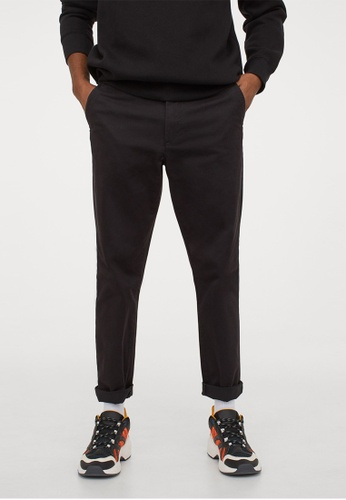 H&M black Slim Fit Chinos A47ECAA437A2FFGS_1