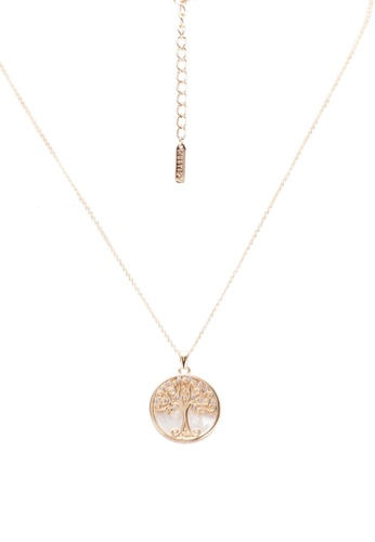 9e2be0404343b Gold Willow Tree Of Life Necklace With Swarovski Crystals