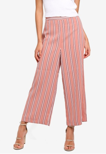 Forever New pink and multi Marley Stripe Culotte Pants 7173EAA43BB5EEGS_1