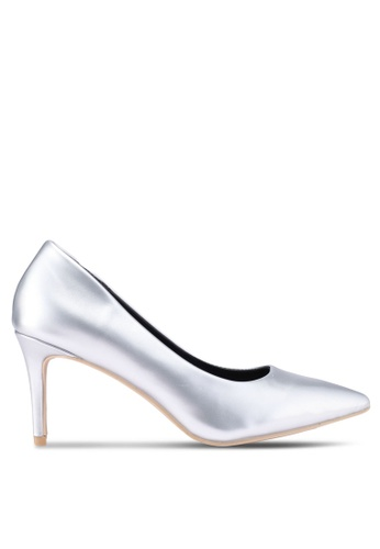 Nose silver Patent Metallic Pointed Pumps 36DFDSH316DD1FGS_1