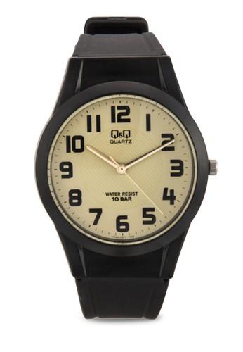 VQ50esprit mongkokJ001Y 圓框數字手錶, 錶類, 飾品配件