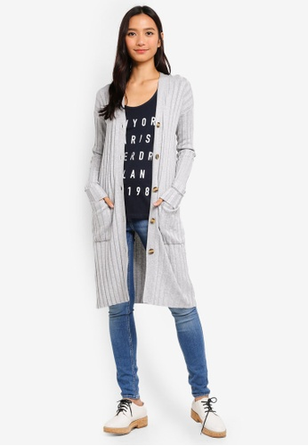 61937b414d3 Buy Cotton On Quinnie Buttoned Longline Cardi Online on ZALORA Singapore