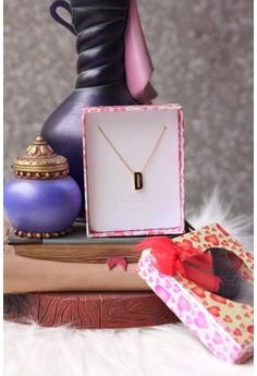 Mini Slide Initial Necklace D