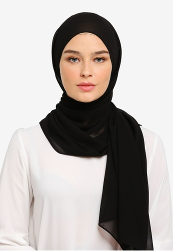 a8fe5d0f47964 JULY black JULY Hijab - Freya Plain Shawl in Black 56E65AA0318FF8GS_1