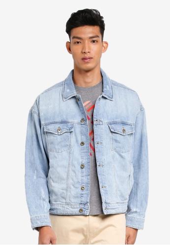 ESPRIT blue Regular Denim Outdoor Jacket F7835AABA5B976GS_1