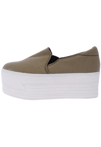 Maxstar C7 60 Synthetic Cotton White Platform Slip on Sneakers US Women Size MA168SH08DKPHK_1
