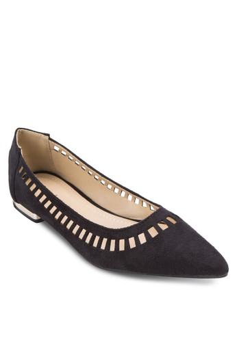 雕花尖頭平底鞋, 女鞋, zalora 台灣鞋