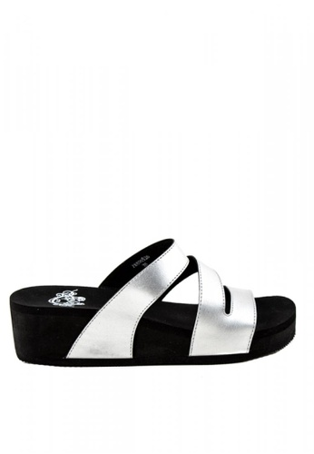 Otto silver Metallic Slide Sandals 387A0SH03CFD61GS_1