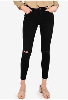 829d687fc4faf0 Buy Hollister High Rise Destroy Jeans | ZALORA HK
