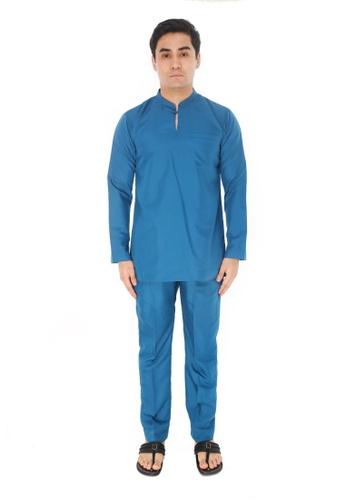 Amar Amran blue Baju Melayu Gumbae 0EFBFAA4A6347FGS_1