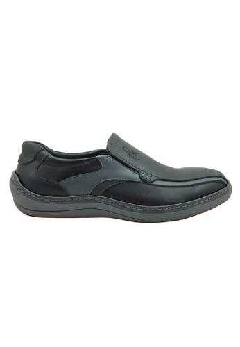 midzone black Comfortable Leather Slip On MI949SH51ZGYMY_1