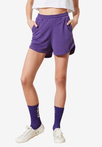 Trendyol purple Knitted Shorts DC065AA37B2D94GS_1