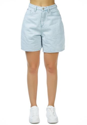 London Rag blue Why so serious Denim Shorts in Light Blue 26CB9AAFCFFA9BGS_1